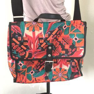 Fossil crossbody bag floral print canvas pre-owned